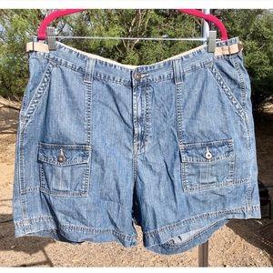 Plus Riders Denim Cargo Shorts